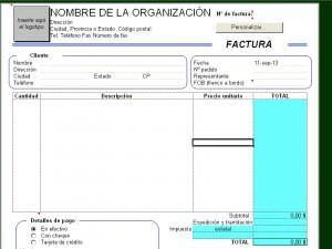 plantilla factura Excel